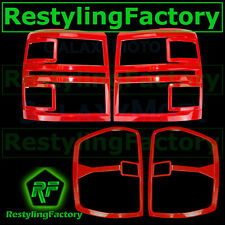 14-15 Chevy Silverado 1500 Victory Red Headlight+Taillight Trim Bezel Cover