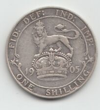More details for 1905 edward vii silver shilling - very rare