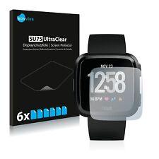 6x Fitbit Versa / Lite / Special Edition Displayschutzfolie Klar Transparent