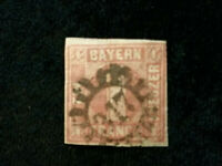 Altdeutschland Bayern ab 1849 - MiNr. 3         1 Kr   PF XXIX (?)        (2)