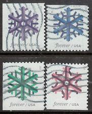 Scott #5031-34 Used Set of 4, Geometric Snowflakes (Off Paper)