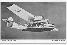 WWII Vendor Arcade- Mutoscope Card- Airplane- Seaplane Consolidated PBY Catalina