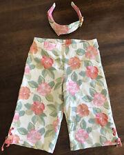 Gymboree Aloha Wahine Hawaiian Floral Pants Headband Set Outfit 5 Vintage 2004