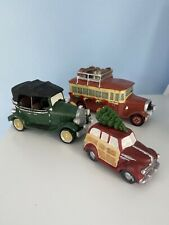 Heritage Village Auto Accessories Christmas Bus Truck With Tree On Top Etc