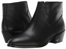 COACH Danni Booties Women's Leather Ankle Boots Classic Premium Winter Black