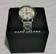 MARC JACBOS Roxy Floral Silver Stainless Steel Watch MJ3579 NWT