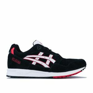 Men's Asics GELSAGA Lace up Cushioned Trainers in Black