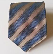 Klauss Boehler tie striped silk made in italy blue necktie nice !!!