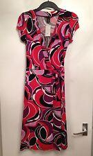 BNWT Stunning Ladies H&M Red Multi Wrap Dress-Size UK 10,EUR 36,US 6 RRP £24.99