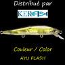 Leurre poisson nageur suspending SSO MINO SSO Slender PAYO 68mm AYU FLASH truite