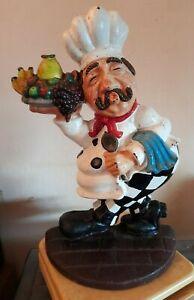 "HEAVY 2.7 Kg Vintage Minster Jolly Chef Door Stop 11"" Tall  VGC"