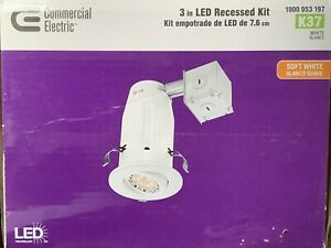 """Commercial Electric LED Recessed Kit 3"""" - K37"""
