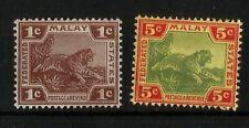 Malaya Tiger Britisch Südostasien Alte Marken Ungebraucht 1900