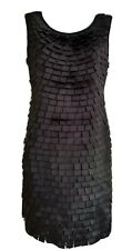 PORTOBELLO PUNK Women's Black Stretchy Layered Sleeveless Pencil Dress. Size S/M