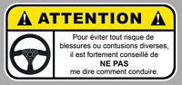 DANGER ATTENTION CONDUIRE FUN BOOST JDM AUTOCOLLANT STICKER 12cmX5,5cm (DA158)