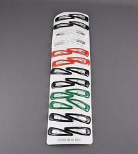 "24 painted metal hair clip snap barrette click tic tac small 1.5"" long"