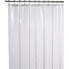 LiBa Mildew Resistant Anti-Bacterial Peva 8G Shower Curtain Liner, 72x72 Clear -