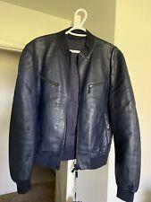 Giorgio Armani Men Leather Jacket 54IT size NEW