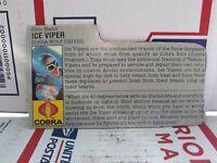 Vtg 1987 Hasbro GI Joe Ice Viper Cobra Wolf Driver Action Figure File Card