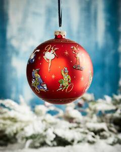 New G. DeBrekht Artistic Studios 12 Days of Christmas Glass Ball Ornament