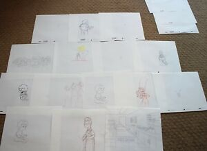 RARE THE SIMPSONS TV SHOW ORIGINAL STORYBOARDS SET USED SKETCHES DRAWING 509