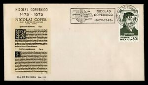 DR WHO 1973 MEXICO FDC NICOLAUS COPERNICUS  C240329