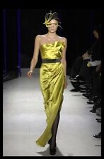 DONNA KARAN COLLECTION Black Wool Origami Gown US10/IT46/FR44 Fall 2007 New $6K