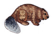 BEAVER Iron On Patch Forest Zoo Wild Animals