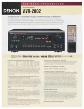 Denon AVR-2802 Original A/V Surround Receiver Brochure
