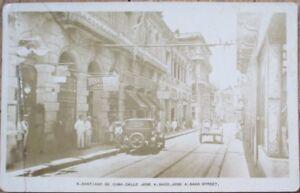 Santiago de Cuba 1920s Realphoto Postcard: Calle Jose A. Saco / Downtown Street