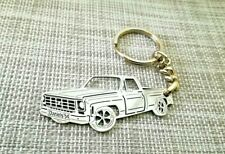 Chevrolet c10, custom keychain by your picture, custom gift, stainless steel.