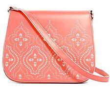 Vera Bradley Coral Laser-Cut Saddle Crossbody Handbag  Nwts pink 318-s33-bb19