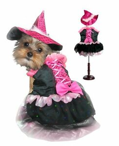 High Quality Dog Costume - PINK BOW WITCH LED COSTUMES Bright Light Witches