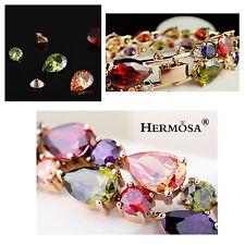 Luxury Hermosa® 18K GOLD Peridot Amethyst Garnet Morganite Citrine Bracelets 7''