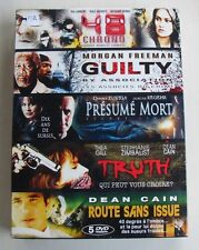 COFFRET 5DVD / 5 FILMS - 48 CHRONO / GUILTY / PRESUME MORT / TRUTH....- NEUF