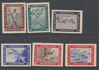 6 MNH Prairie Provinces Conservation Stamps #PC1 - PC6 (Lot #RR123)
