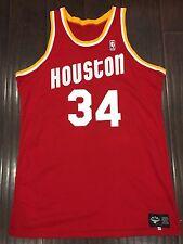 Vintage🔥 NBA Hakeem Olajuwon Houston Rockets Authentic Made In USA Jersey Sz 48