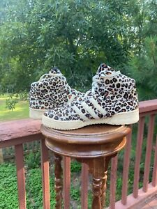 NO TAILS! US Size 10  Adidas Jeremy Scott JS Leopard NO TAILS!  AUTHENTIC V24536