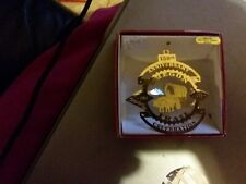 National Treasures 24 kt Gold Brass Ornament 150th anniversary Oregon trail cent