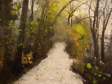 "NEW ISABELLE AMANTE ORIGINAL ""The Road to Fantasy"" FOREST IMPRESSIONIST PAINTING"