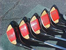 Ping Eye 2 Golf Clubs Refinish Black Wood Set Driver 3 4 5 7 New Tour Wrap Grips