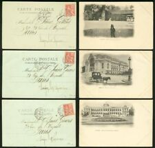 Indochina 1902 view cards (x3) Ligne N Paq. Fr. No. 8