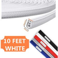 10 Feet Car Door Trim Edge Guard Moulding Rubber Seal White Protector Strip