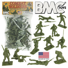 BMC DK Toys & Novelties Green PLASTIC ARMY MEN 28pc WW2 Soldier Figures - Made i