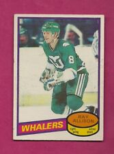1980-81 OPC # 126 WHALERS RAY ALLISON  ROOKIE EX-MT CARD (INV# A6645)