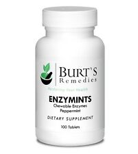 Burt's Remedies Peppermint Enzymints Chewable Enzymes Reflux Bloat Indigestion