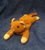 Ty Beanie Baby Nip The Cat NO HANG TAG 3rd Generation Tush Tag