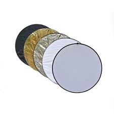 5 in1 60cm Studio Light Photography Collapsible Disc Panel Reflector Diffuser FS