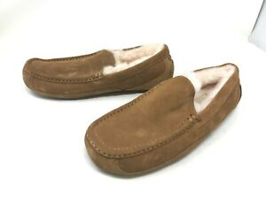 Mens UGG (1101110) Ascot Brown Suede Slippers (406E)