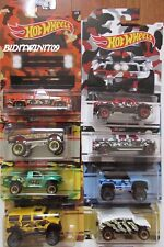 HOT WHEELS 2017 COMPLETE SET OF 8 SILVERADO HUMMER FORD WALMART EXCLUSIVE